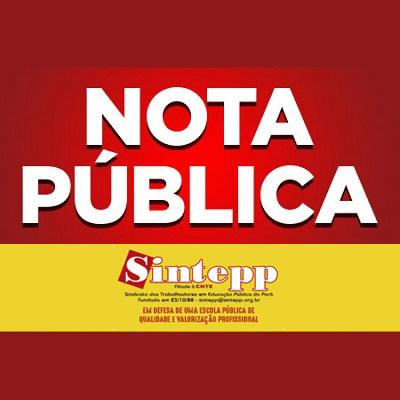 SINTEPP SUSPENDE ATIVIDADES NO MÊS DE MARÇO E COBRA DO GOVERNO MEDIDAS SANITÁRIAS E PROTETIVAS PARA ESCOLAS