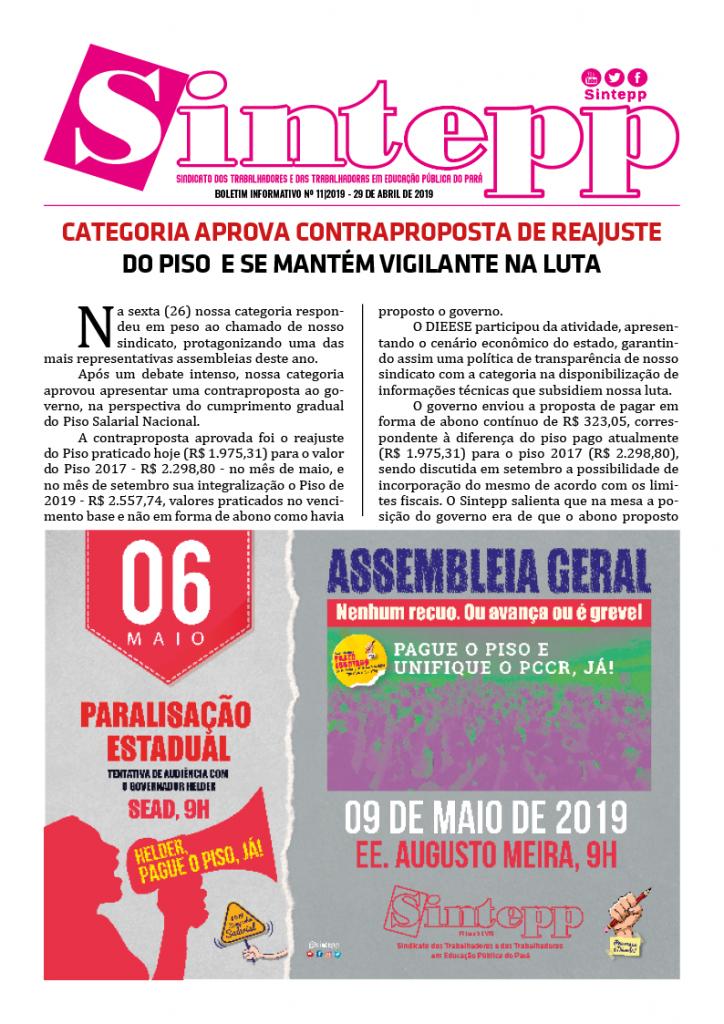 Boletim Informativo nº 11|2019 – 29 de abril de 2019