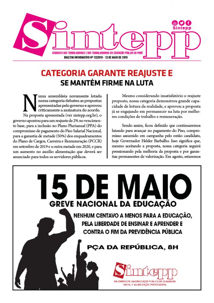 Boletim Informativo nº 12|2019 – 13 de maio de 2019