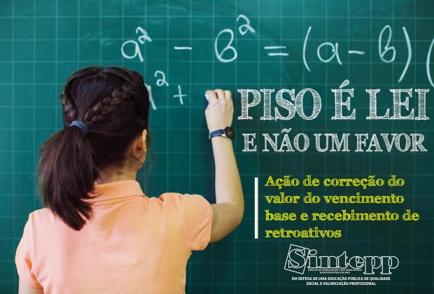 INFORMATIVO SOBRE O REAJUSTE DO PISO DOS PROFESSORES