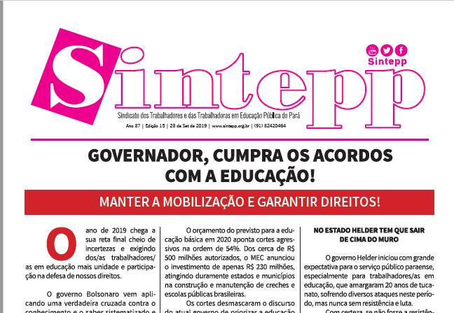 Boletim Informativo nº 15|2019 – 23 de setembro de 2019