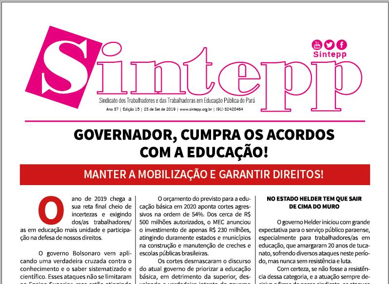 Sintepp Informa nº 15/2019