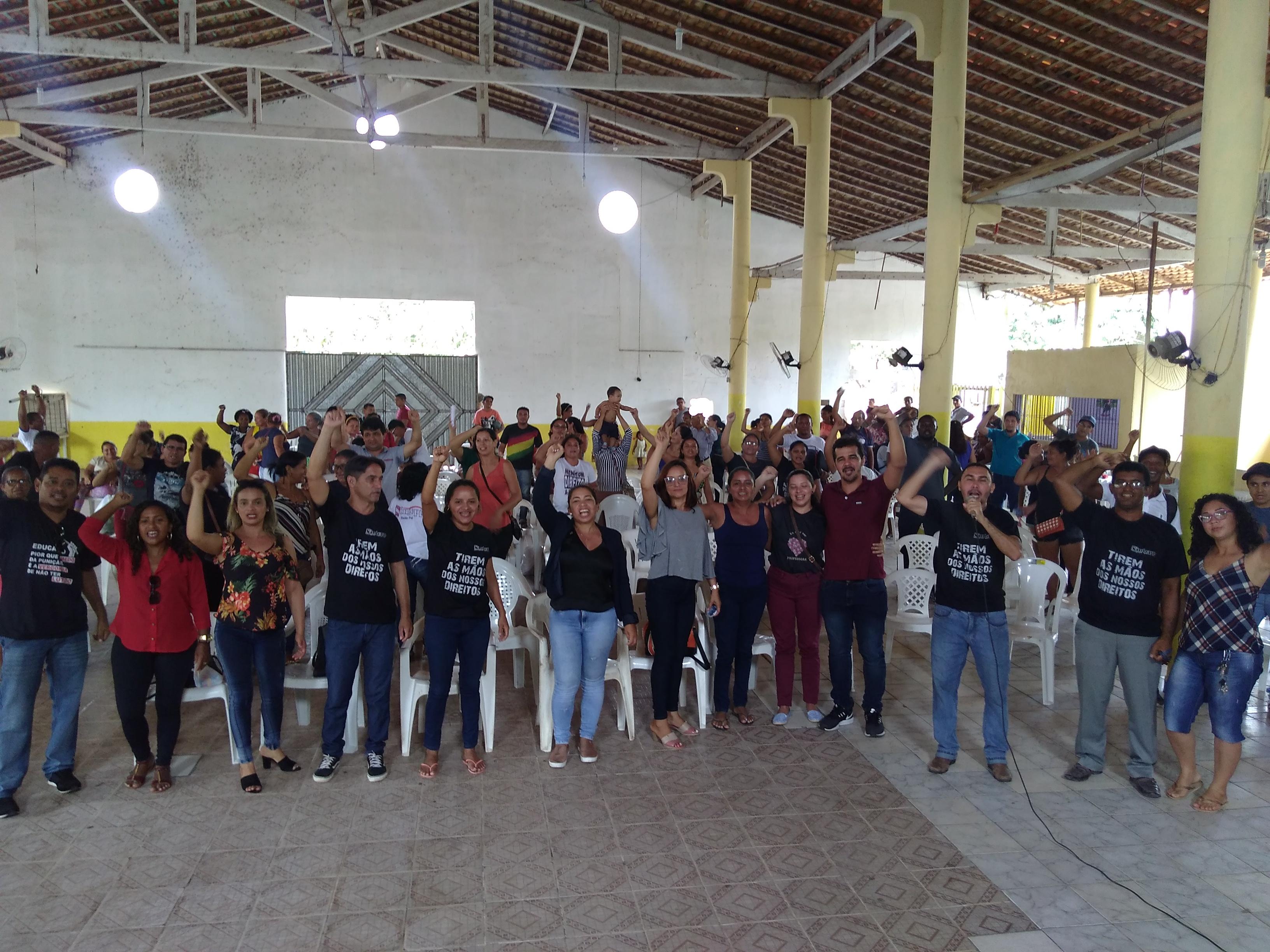 Fortalecida, categoria de Baião aprova continuidade da greve