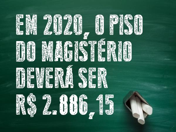 DIREITO A INCORPORAÇÃO DO REAJUSTE DO PISO DO MAGISTÉRIO 2020