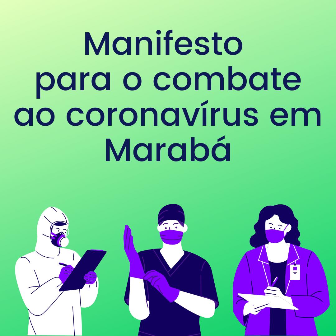 Manifesto para o combate ao coronavírus em Marabá