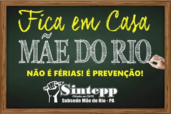 Posição SINTEPP Mãe do Rio sobre antecipação das férias