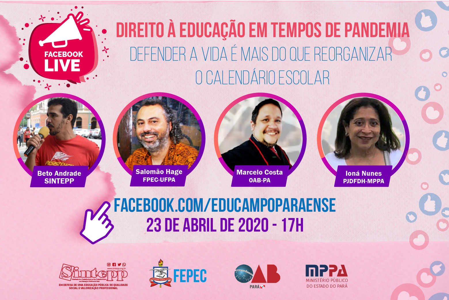 Live: Educação em tempos de pandemia