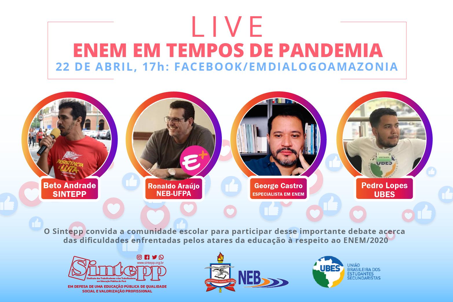 Live: Enem em tempos de pandemia
