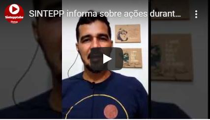 SINTEPP informa sobre ações durante a pandemia COVID-19