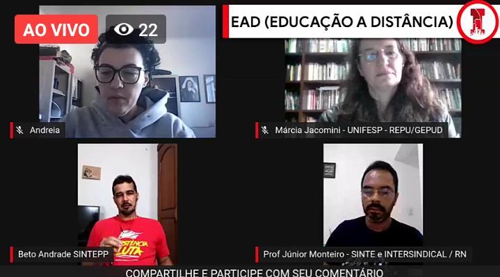 Live EAD (Educação a Distância) – Intersindical