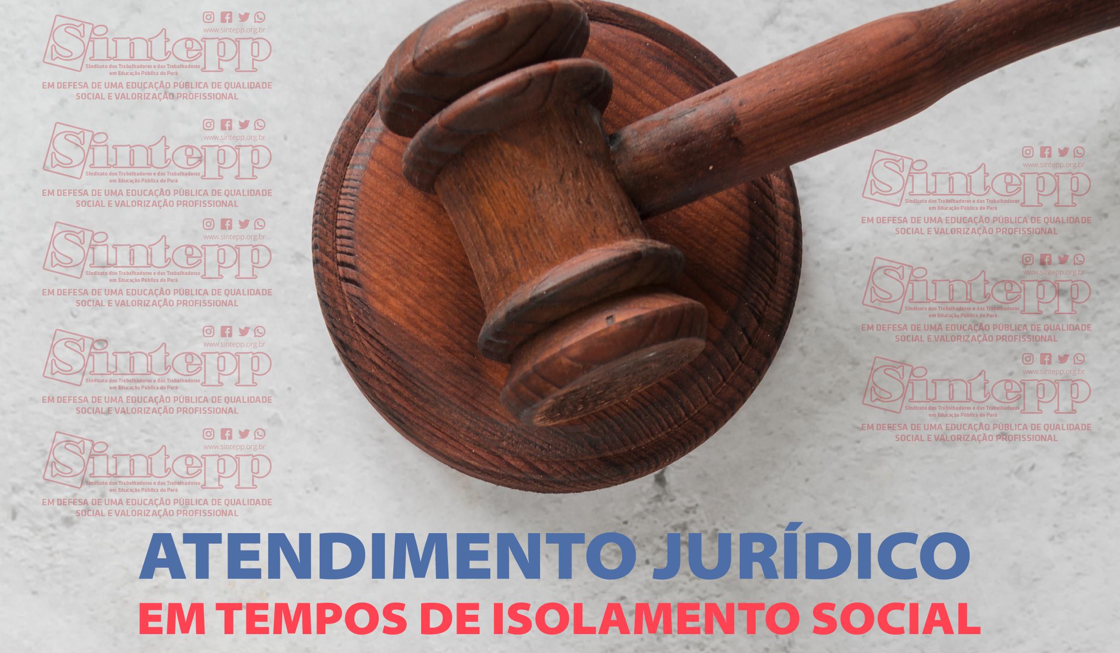 Atendimento Jurídico SINTEPP em tempos de isolamento social