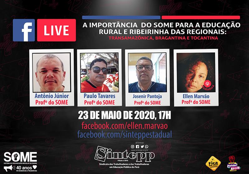 Live do Some: discutindo a educação modular nas regionais da