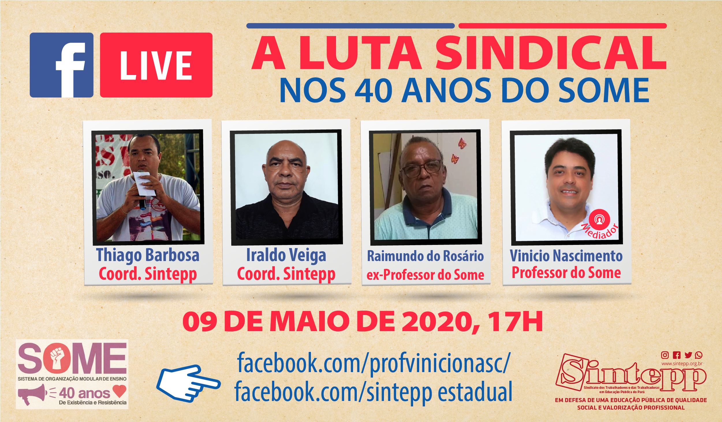 A luta Sindical nos 40 anos do Some