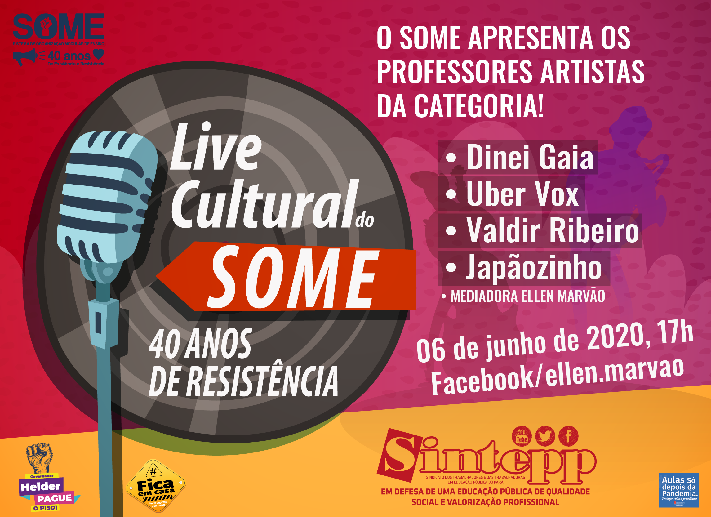 Live cultural do Some: 40 anos de resistência