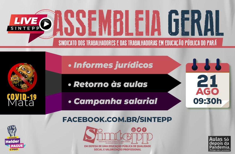 Assembleia geral virtual – 21 de agosto