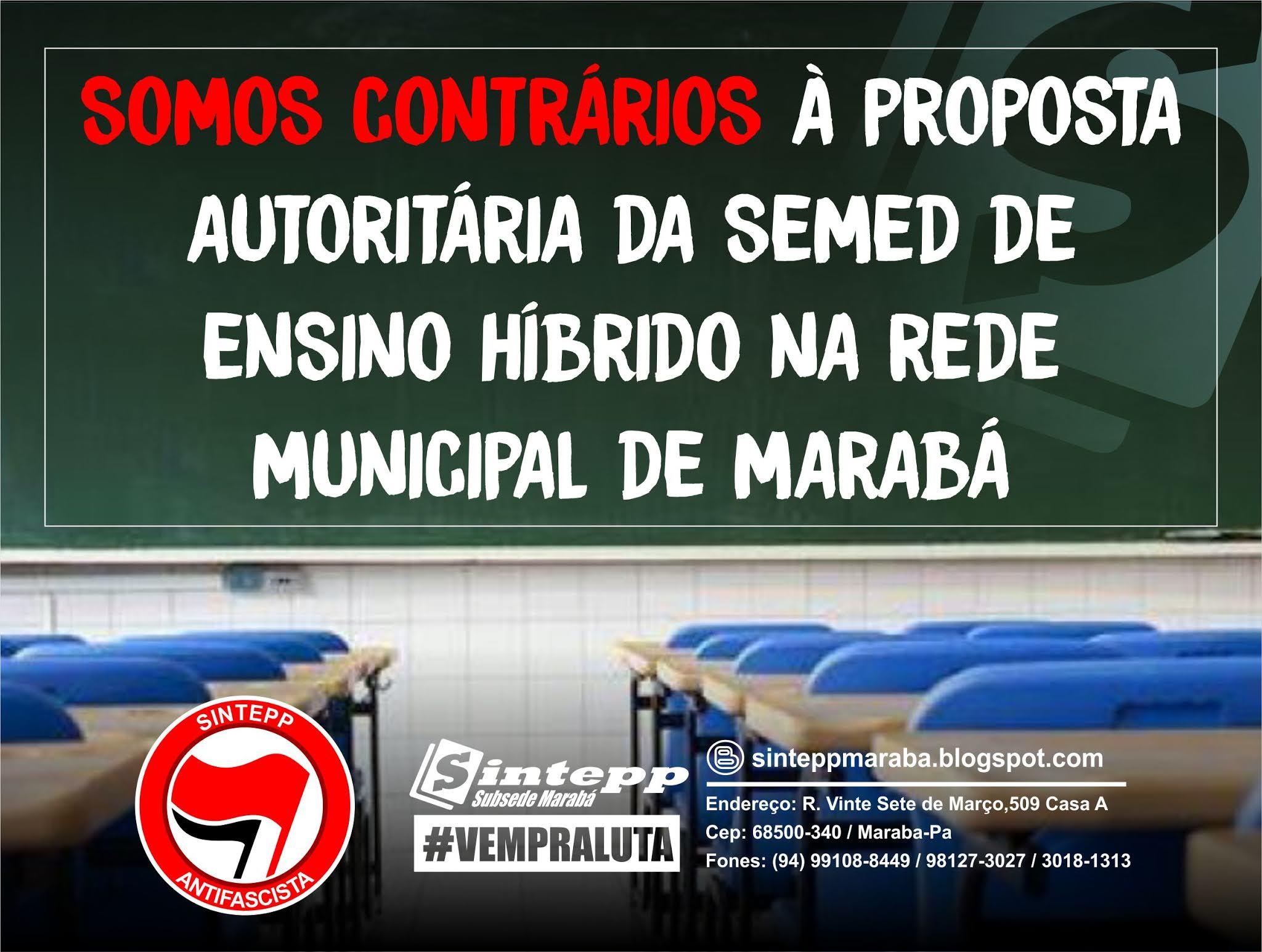 SINTEPP Marabá continua enfrentando as políticas autoritárias da SEMED/DEN