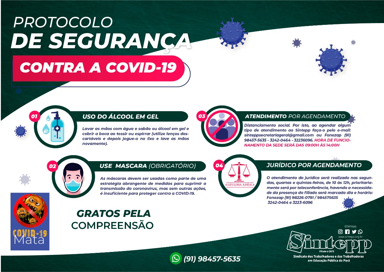 Protocolo de segurança contra a COVID-19