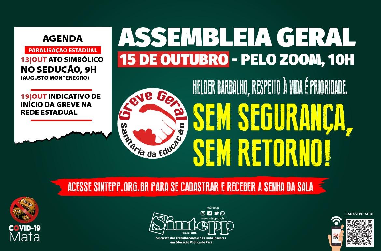 Assembleia Geral aprova Paralisação Estadual para 13/10