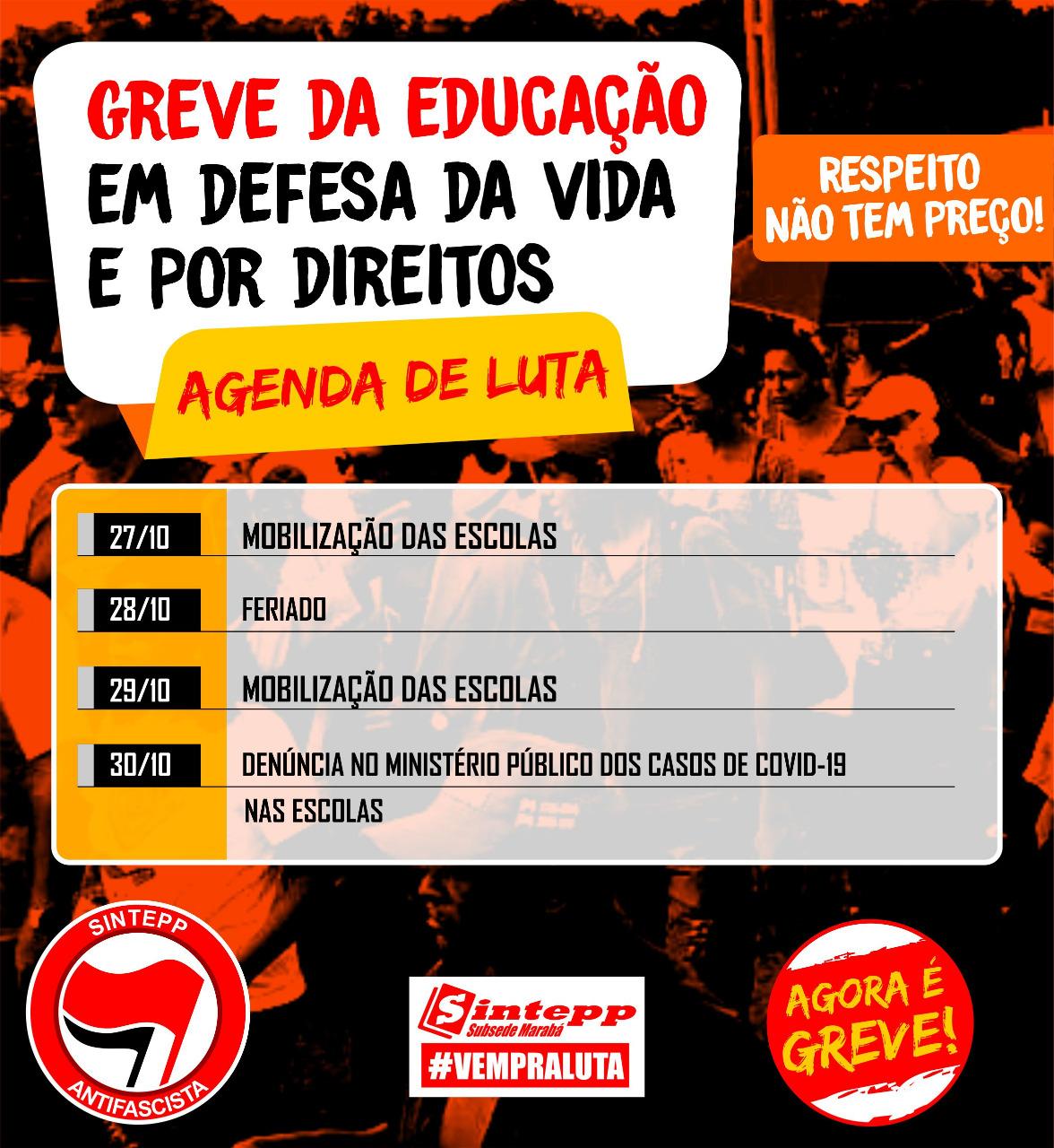Greve Marabá – Agenda de Luta