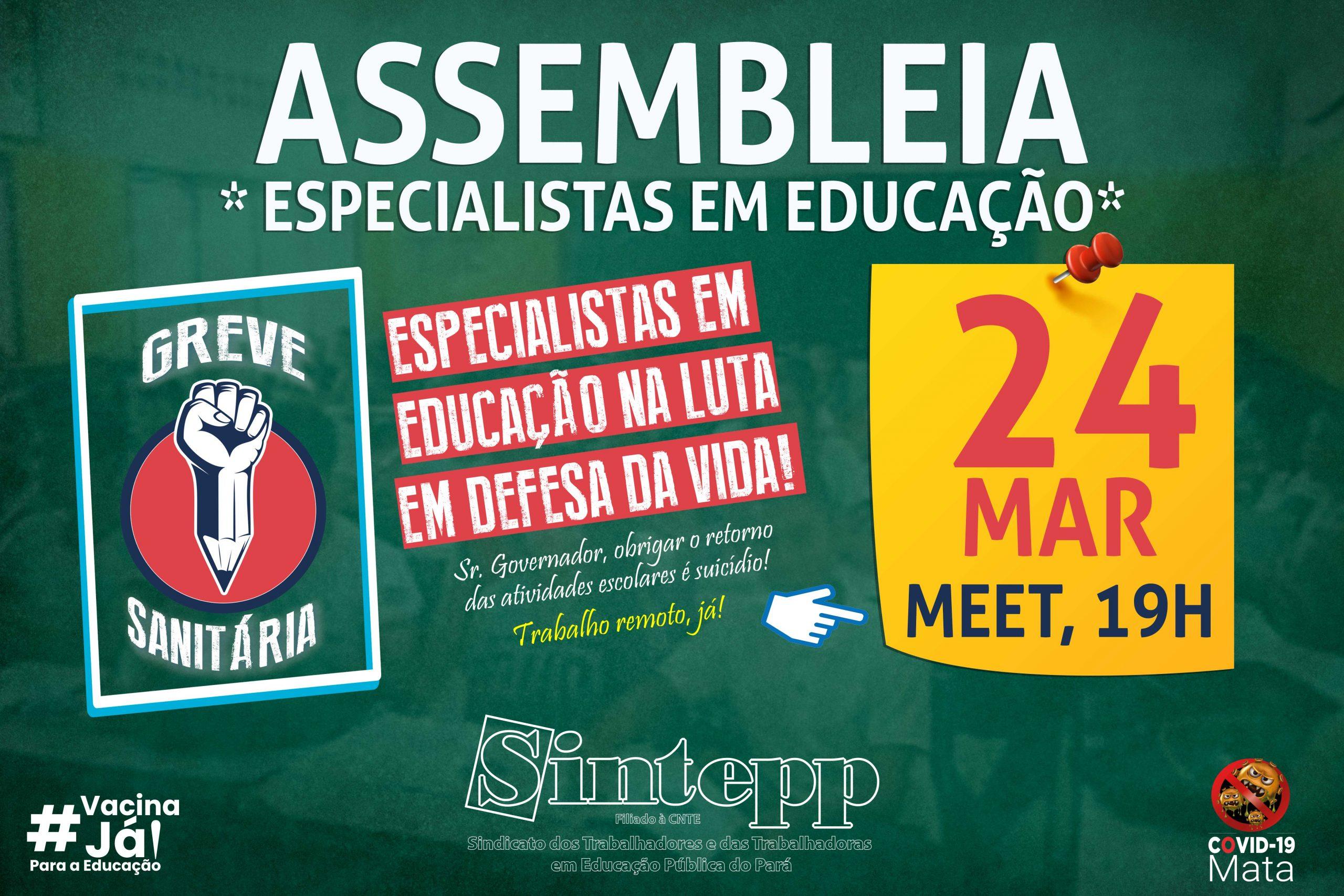 24 03: Assembleia dos/as Especialistas em Educação