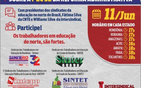 11|06 – 16h – Live PEC 32 da Reforma Administrativa