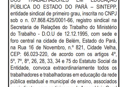 Edital de convocação de Assembleia Geral Estatutária – 02.07.2021