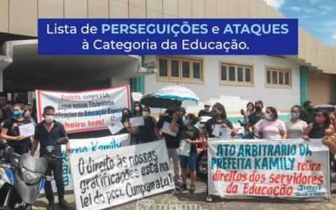 SINTEPP Pirabas denuncia perseguições e ataques à categoria