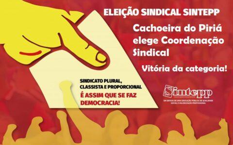 Cachoeira do Piriá elege Coordenação Sindical. Vitória do Sintepp, Vitória da categoria!