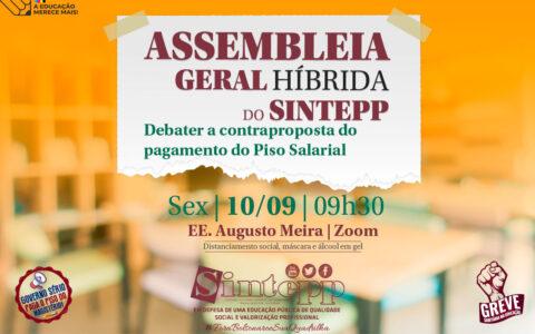 10|Set – Assembleia Híbrida do Sintepp, 09h30