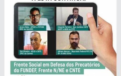 APEOC realiza Live sobre Precatórios do FUNDEF: A luta continua!