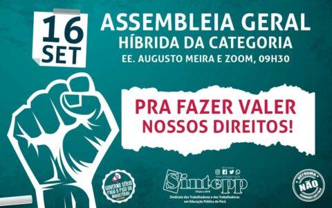 16|09: Assembleia Geral da Categoria – 9h30