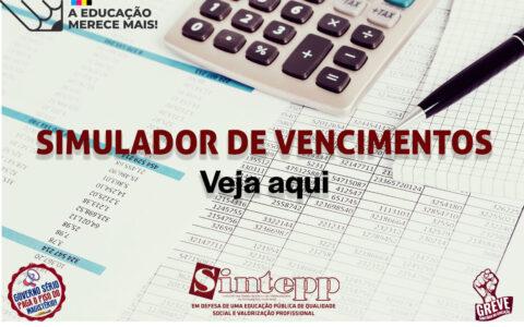 Simulação da proposta do governo para o pagamento do Piso do Magistério